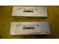 Johnson & johnson 1Day Acuvue define vivid style contact lenses D-7.50,BC 8.5,DIA 14.2,paypal accept