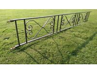 Fence Railing and Matching Gate