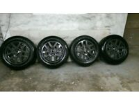 ALLOYS X 4 OF 18 INCH GENUINE DISCOVERY FULLY POWDERCOATED IN STUNNING ANTHRACITE IODINE NICE ALLOYS