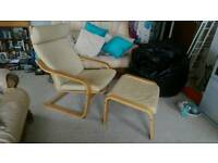 Ikea chair n foot stool