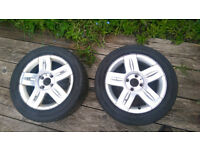 RENAULT CLIO MK3 ALLOY WHEEL WITH TYRE 185/55/15