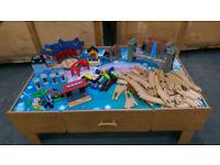 Play table and train set bundle