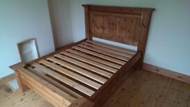 Solid Wooden King Size Bed