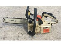 Sthil 009 hand held petrol chainsaw