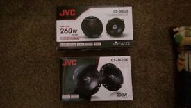 JVC SPEAKERS CS-DR520 260 WATT AND CS-J620X 300 WATT (BRAND NEW)