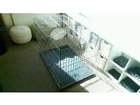 """Large Dog Cage L42"""" x W28"""" x H31"""""""