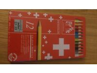 Swisscolor - brand new tin of 12 colour pencils