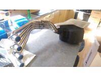 Honda cb650f exhaust system