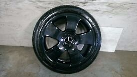 ALLOYS X 4 OF 18 INCH OEM/GENUINE/MERCEDES C/L/600COUPE FULLY POWDERCOATED INA STUNNING BLACKSPARKLE