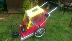 Childs bike trailer .Can deliver