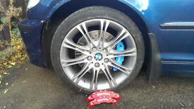 """bmw set of mv2 oem staggered ( back 18"""" 8.5j ) & tyres"""