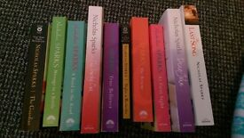 Nicholas Sparks books - collection of 10 - brilliant condition