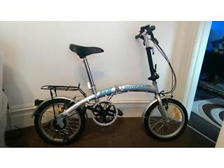 Folding bike excellent condition  6 gear shimano ideal camping? holidays? storage?