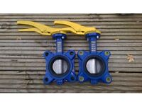 Gas butterfly valves 2 x 65mm TA33