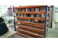 industrial shelves of various sizes and hight