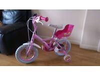 "Apollo Cupcake Childrens Girls 12"" Wheels First Training Bike Bicycle - Pink"