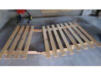 Futon wooden base frame and mattress