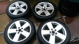 Used set of 4 VW monte carlo alloys with WINTER TYRE NANKANG SNOW SV-2 235/45 R17 97V XL