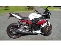 (Nov 2013) Triumph Street Triple R ABS Only 5380 miles with full service history.