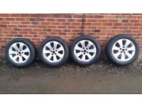 Vauxhall Insignia Alloy Wheels...Fitted Tyres 225 55 17...X 4