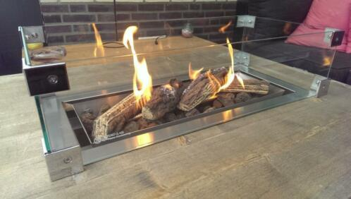 Tafel Met Haard : ≥ vuurtafel of tafel haard op gas voor buiten in de tuin sale