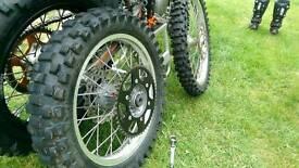 KTM wheels tyres discs 250 350 offroad