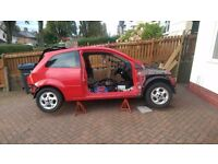 ford fiesta rolling shell with mint engine and gear box
