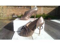ALDO Bronze Grecian style stilettos - Size 37