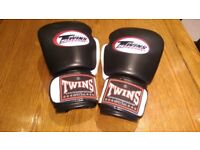 TWINS 14oz TWO TONE BOXING GLOVES