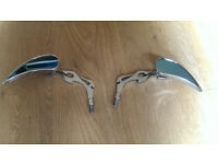 Flame motorcycle mirrors