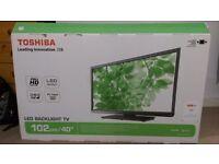 Toshiba 40 inch LED backlight Flatscreen TV