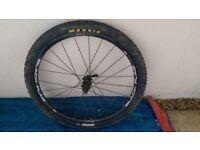 "Mavic CrossRide 26"" rear wheel SunRingle Rim Maxxis Tires"