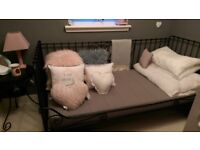 £140 for all ONO. Ikea black metal day bed including matress, matching table and light