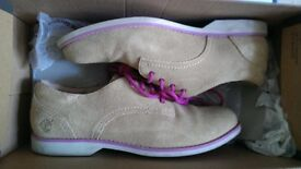 Women's Timberland tan suede leather brogue shoes size 6 *worn once