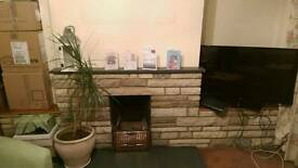 Mantlepiece and hearth stone