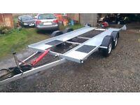 car trailer twin axle,no ramps needed