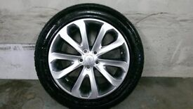 ALLOYS X 4 OF 20 INCH GENUINE RANGEROVER VOUGE FULLY POWDERCOATED IN A STUNNING SHADOW/CHROME NICE