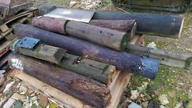 vairious off cuts telegraph poles garden decoration rustic edging etc can load onto your trailer van