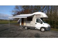 Hymer C494 excellent compact and surprisingly spacious 4 berth motorhome, 2004, Fiat Ducato base.
