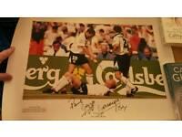 Signed Paul Gascoigne Print