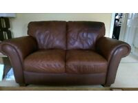 Excellent Brown Leather Sofas, 3 Seater, 2 Seater and Single Seater