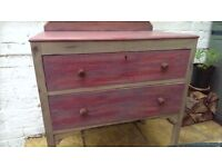 shabby chic cupboard/chest of drawers/Upcycle/antique/handmade/