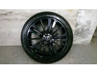 ALLOYS X 5 OF 20 INCH GENUINE RANGEROVER/DISCOVERY FULLY POWDERCOATED IN A STUNNING BLACK SPARKLE