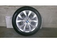 ALLOYS X 4 OF 17 INCH GENUINE BMW/X1FULLY POWDERCOATED IN DUTCHSILVER WITH VERY GOOD TYRES
