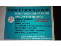 Private Tuition ,£5.00 P/HR,private tutor,limited spaces