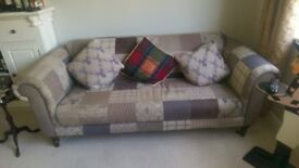 Quality Sofa/Chesterfield with matching foot stool.