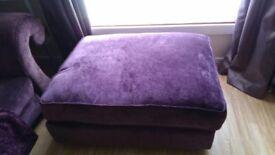 Purple pouffe