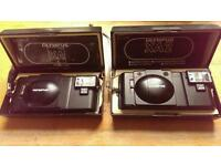 Olympus xa & xa2 both boxed and with instruction booklets classic film cameras !!