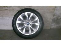 ALLOYS X 4 OF 17 INCH GENUINE BMW X1 FULLY POWDERCOATED IN A STUNNING DUTCH/SILVER VERY NICE WHEELS