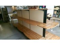 Large Wooden Retail Shelving. Ready immediately